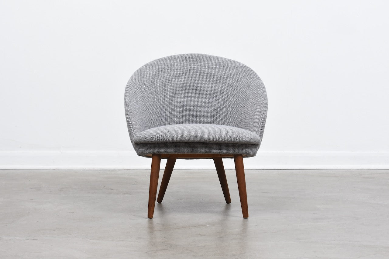 1960s occasional chair with new upholstery