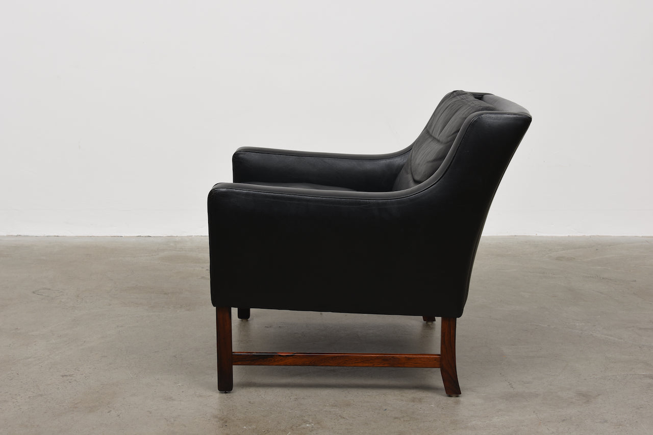 1960s leather lounger by Frederik Kayser