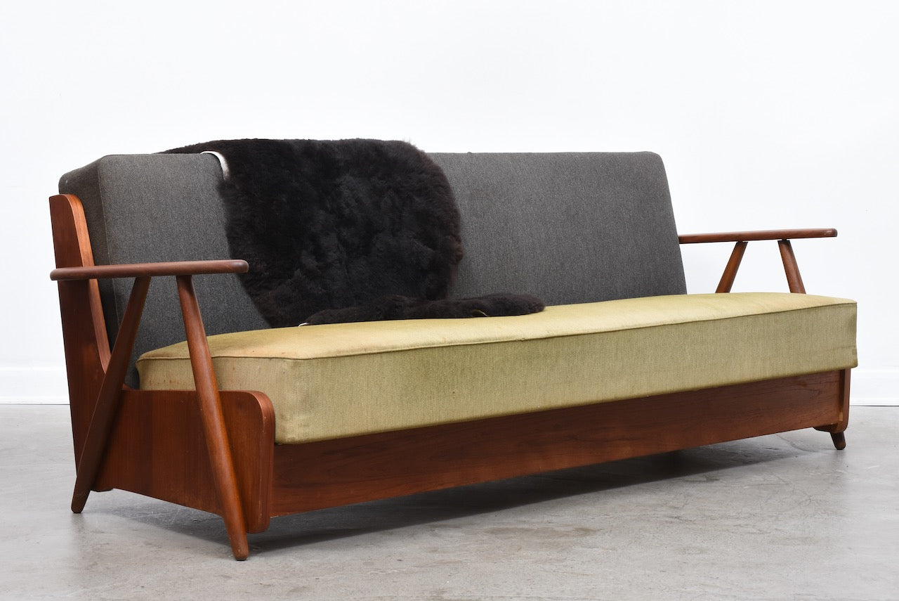 New upholstery included: 1950s foldout sofa bed