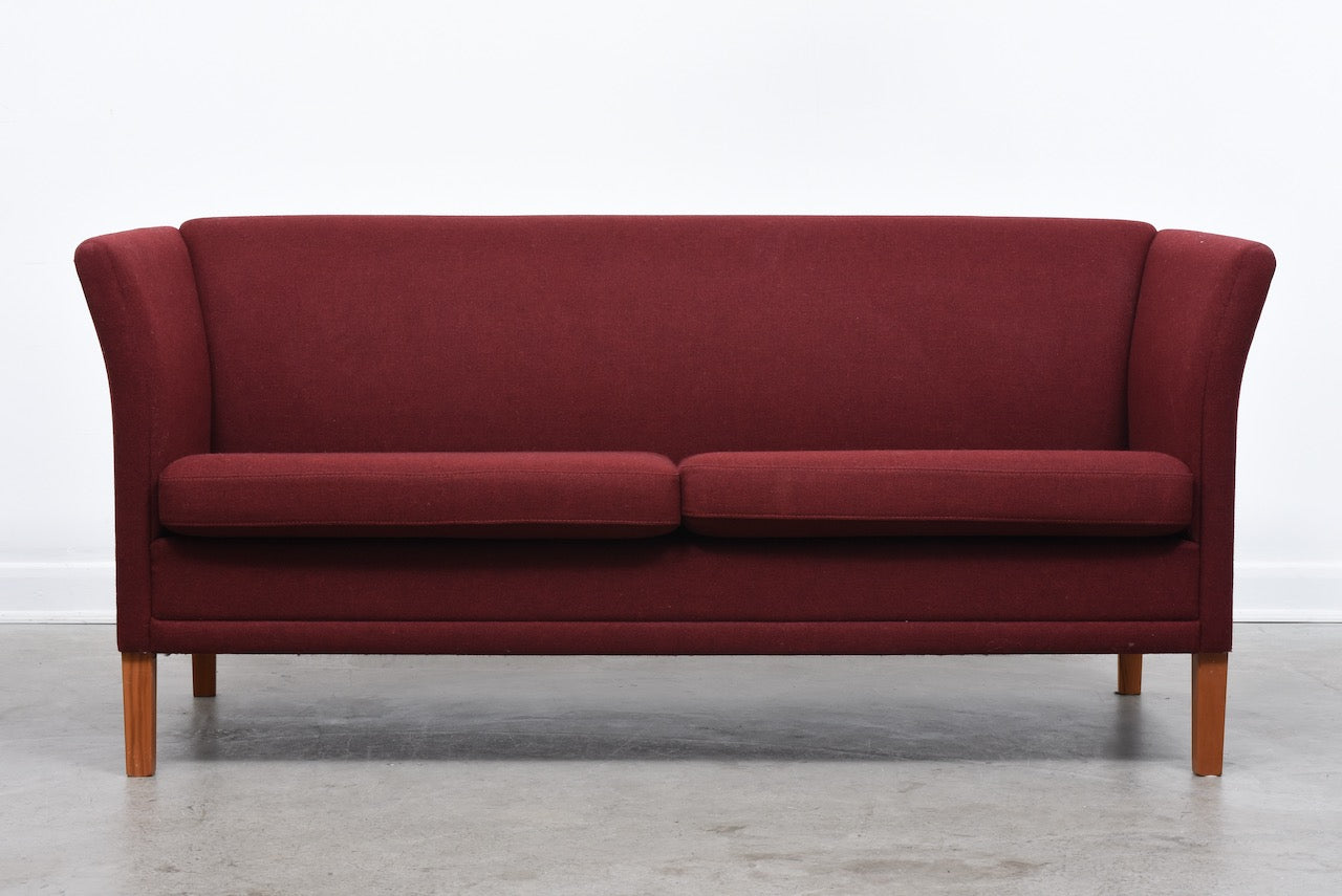 Danish two seat wool sofa