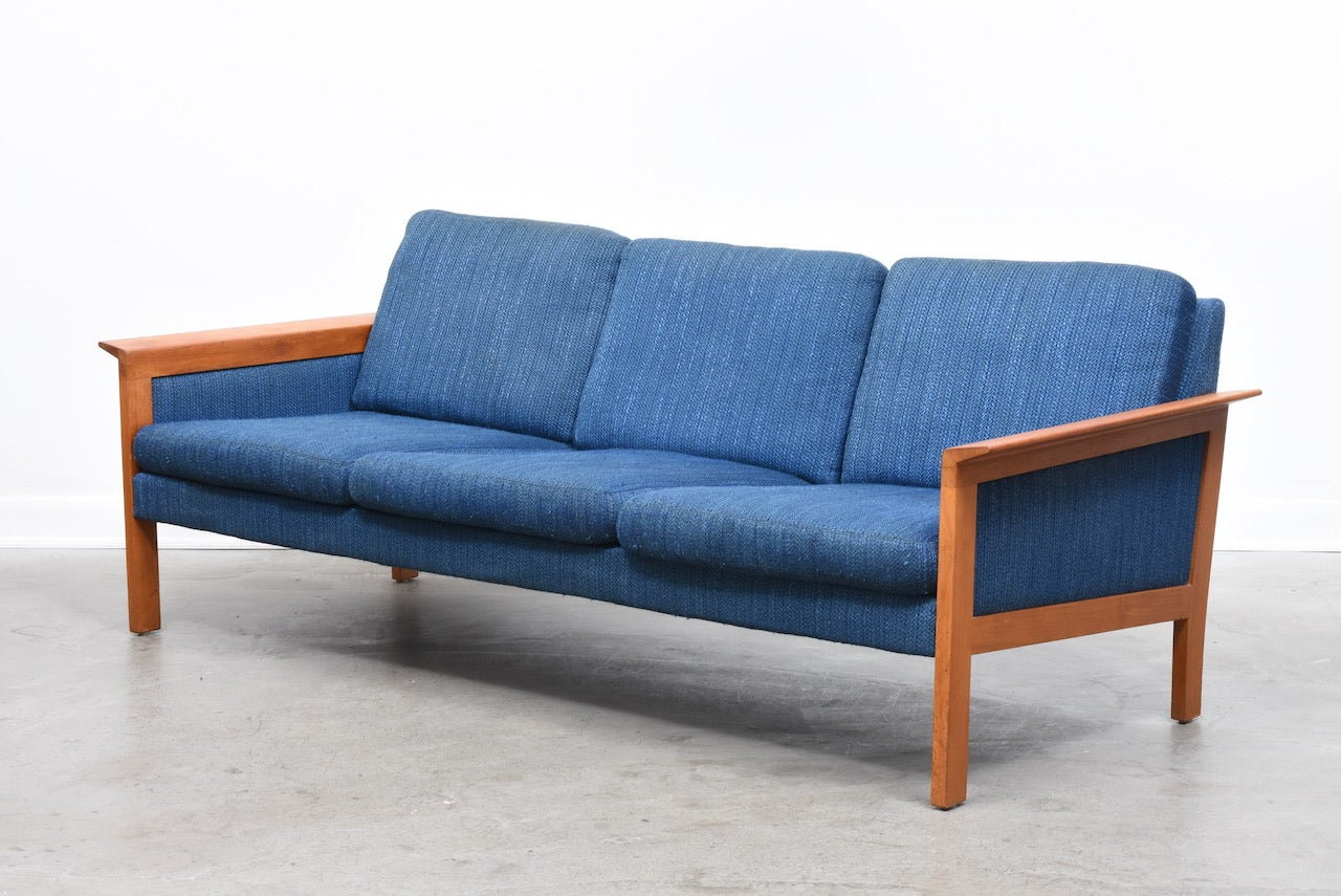 1960s teak-framed three seater