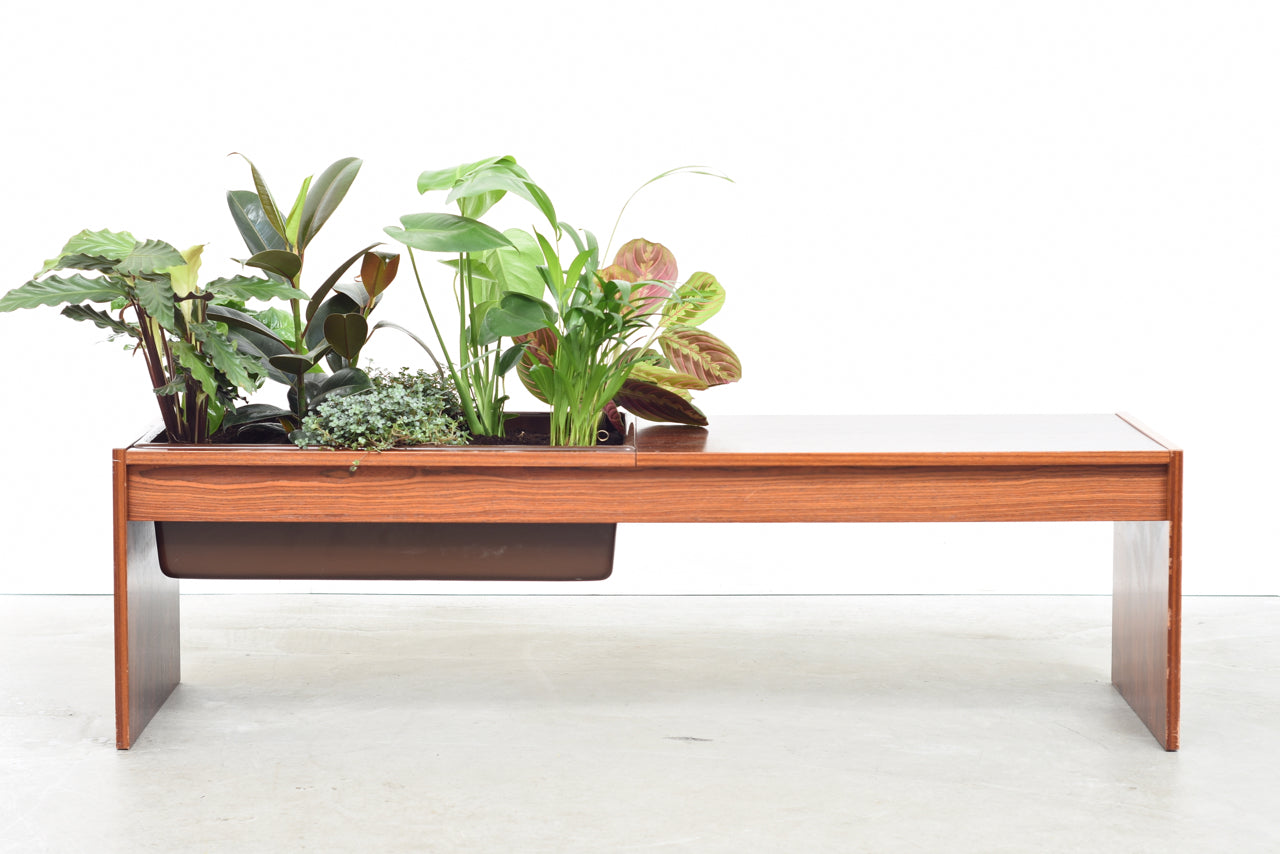 AuctionJuly18 1970s rosewood table with planter