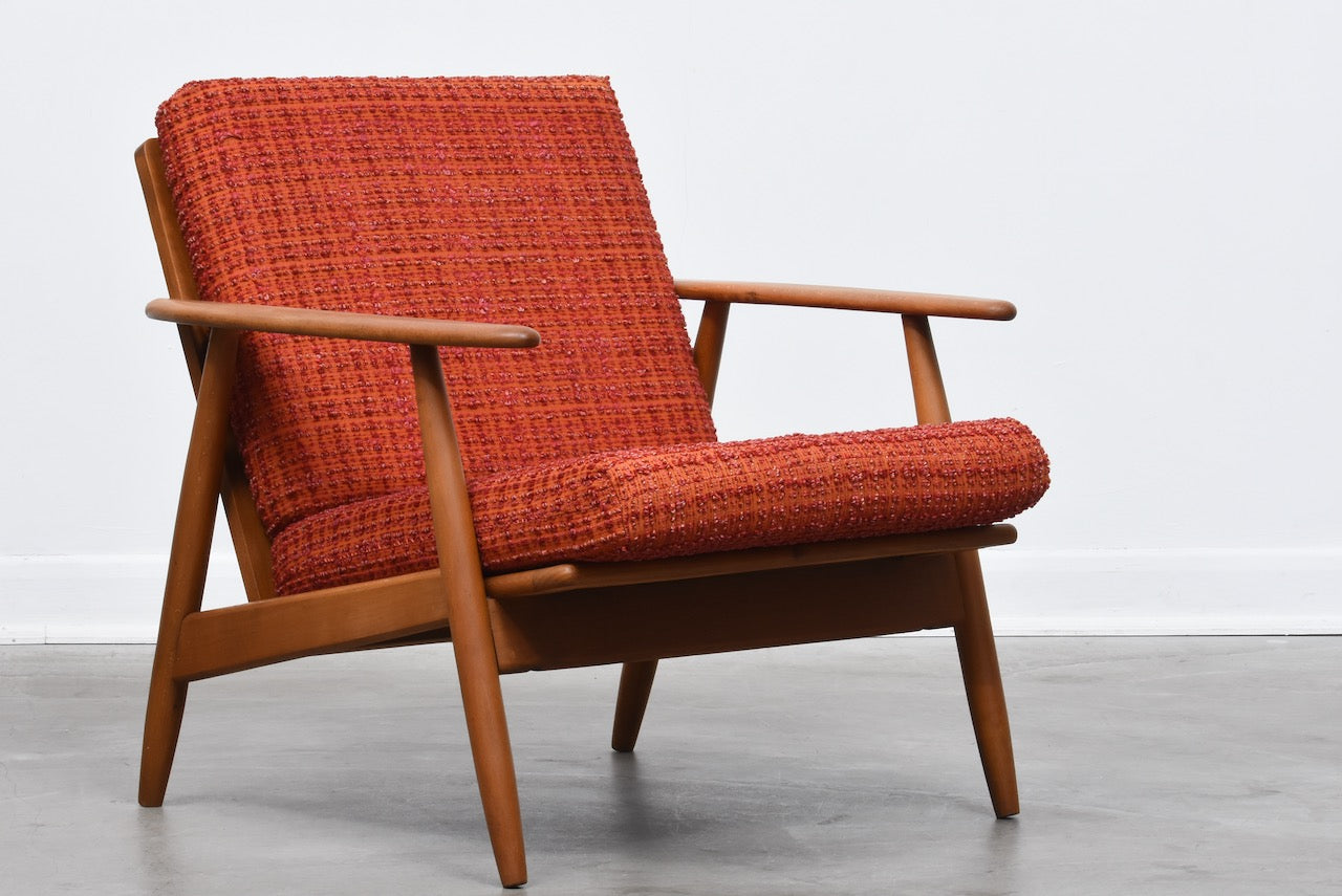 1960s Danish beech lounge chair