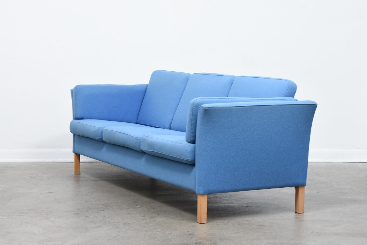 1970s three seat wool sofa