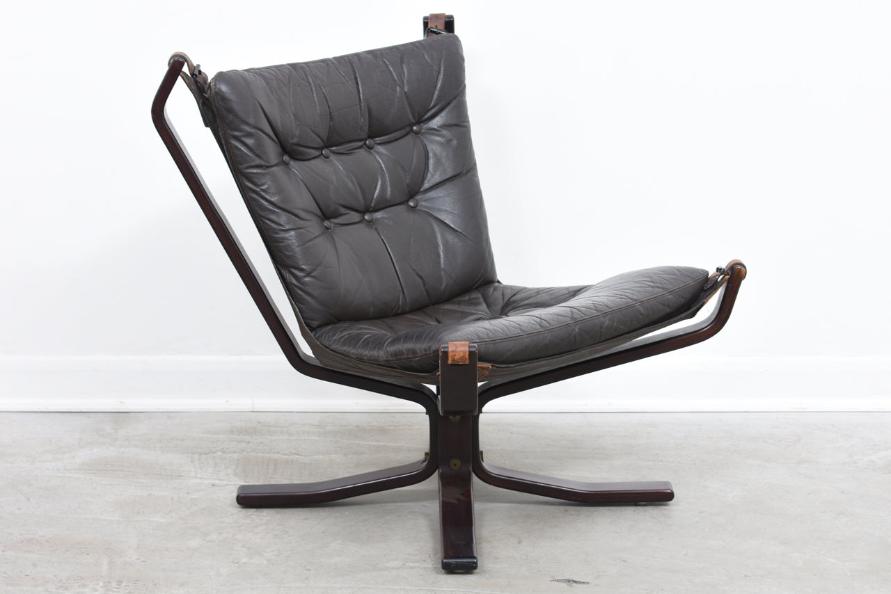 KarstenJuly18 1970s leather + beech lounger