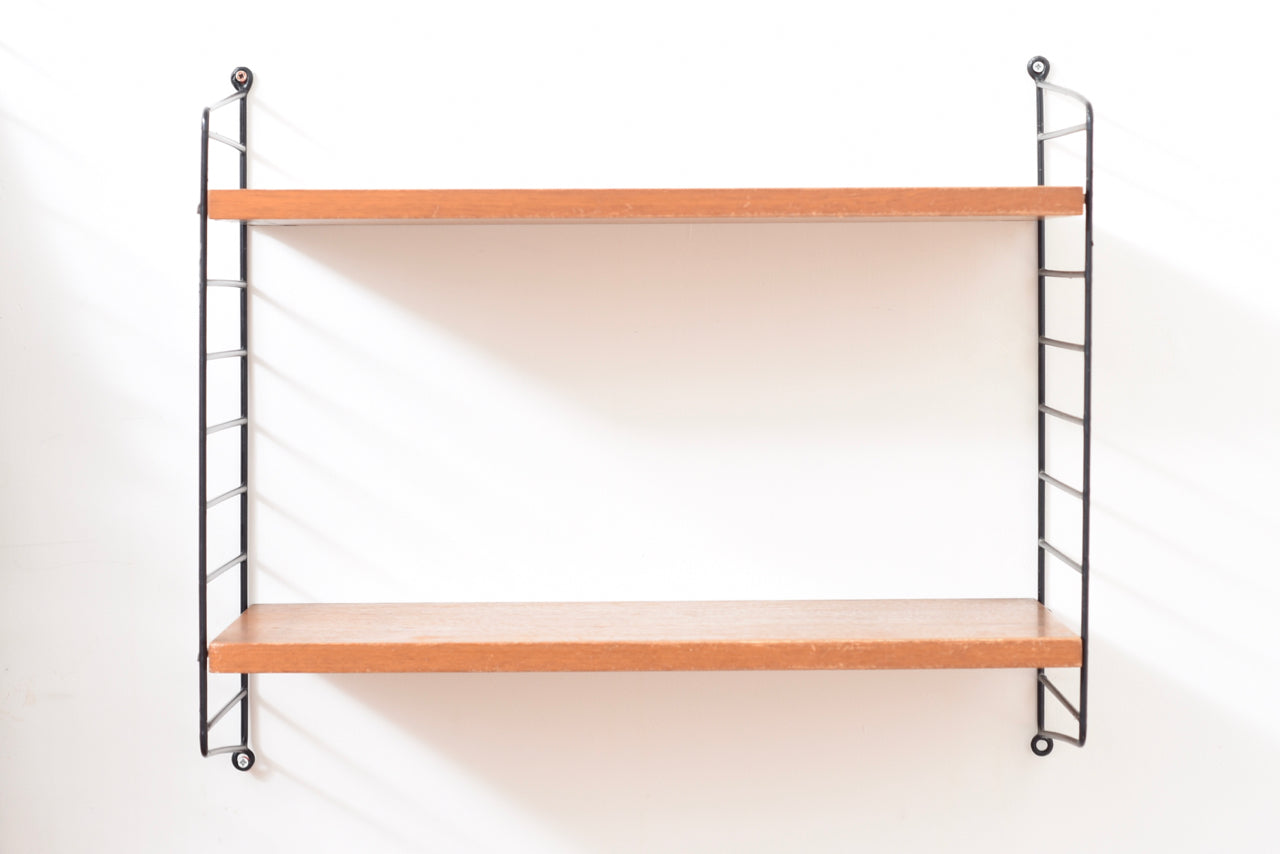 AuctionMay18 1950s set of teak String shelves