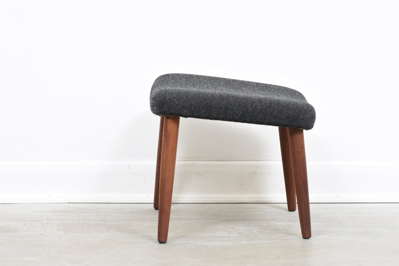 1960s foot stool on teak legs