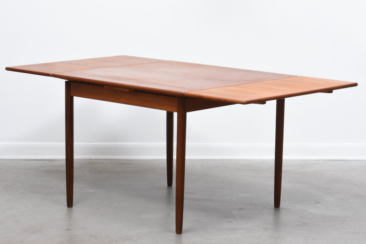 1960s extending square dining table in teak