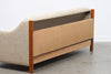 Vintage teak + wool sofa bed