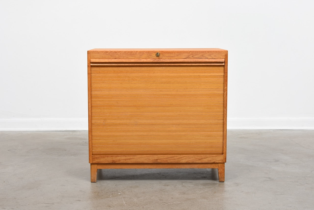 1960s Swedish filing cabinet with tambour door