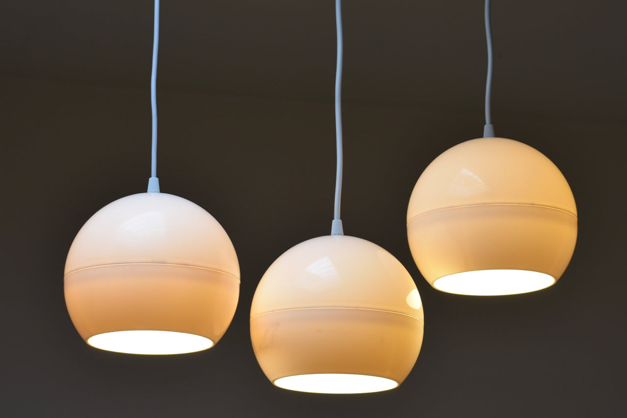 Three available: Vintage opaque white ceiling lamps