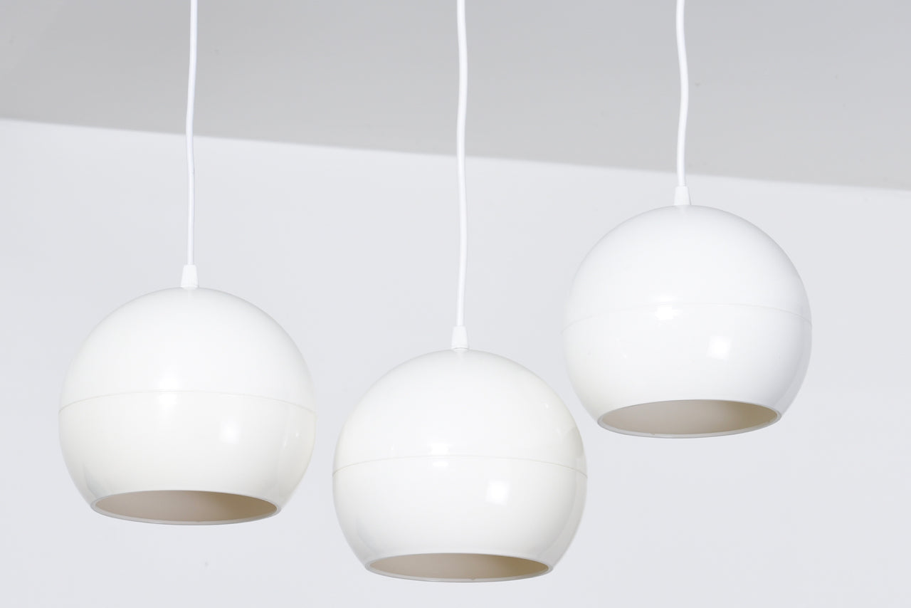Two available: Vintage opaque white ceiling lamps