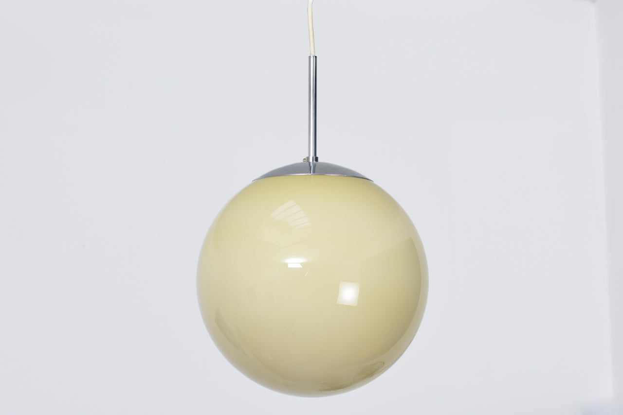 1950s Danish glass ceiling lamp