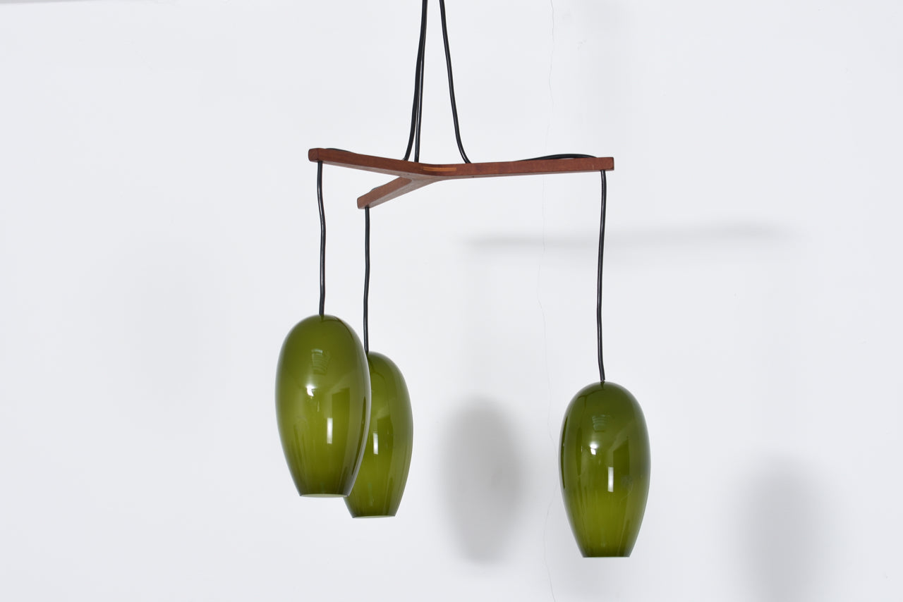 Mid-century 'Life' chandelier in glass by Jo Hammerborg