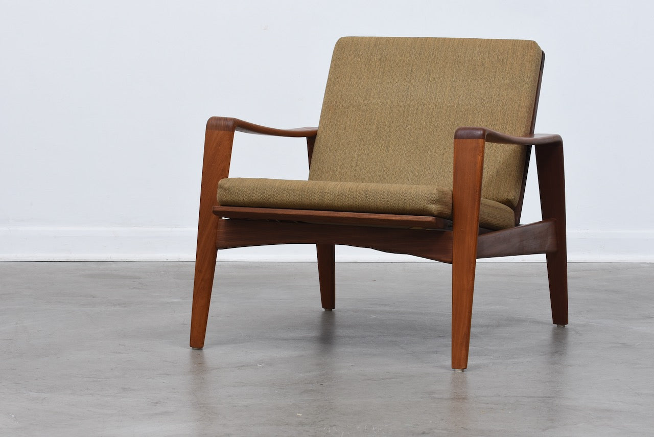 Includes new upholstery: Lounger by Arne Wahl Iversen