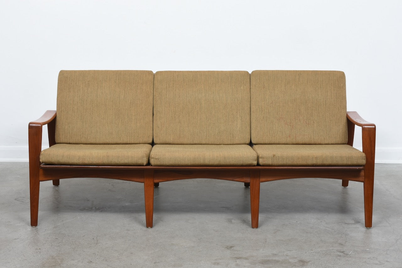 New upholstery included: 1960s Danish teak sofa