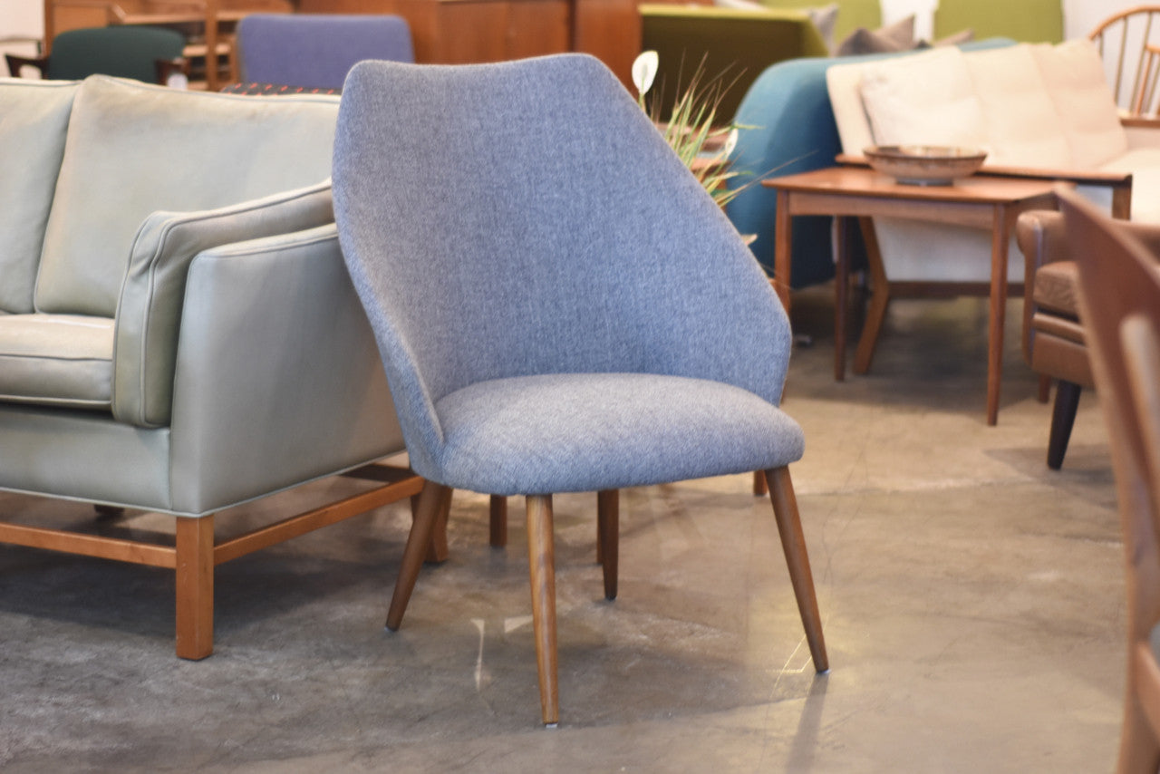 LeneJuly17 1960s occasional chair with new lead grey upholstery