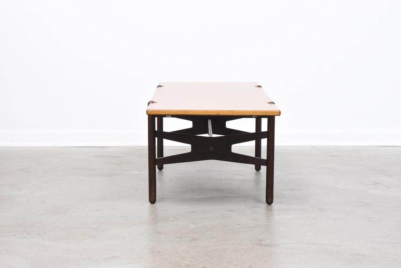 1960s Swedish coffee table with reversible top