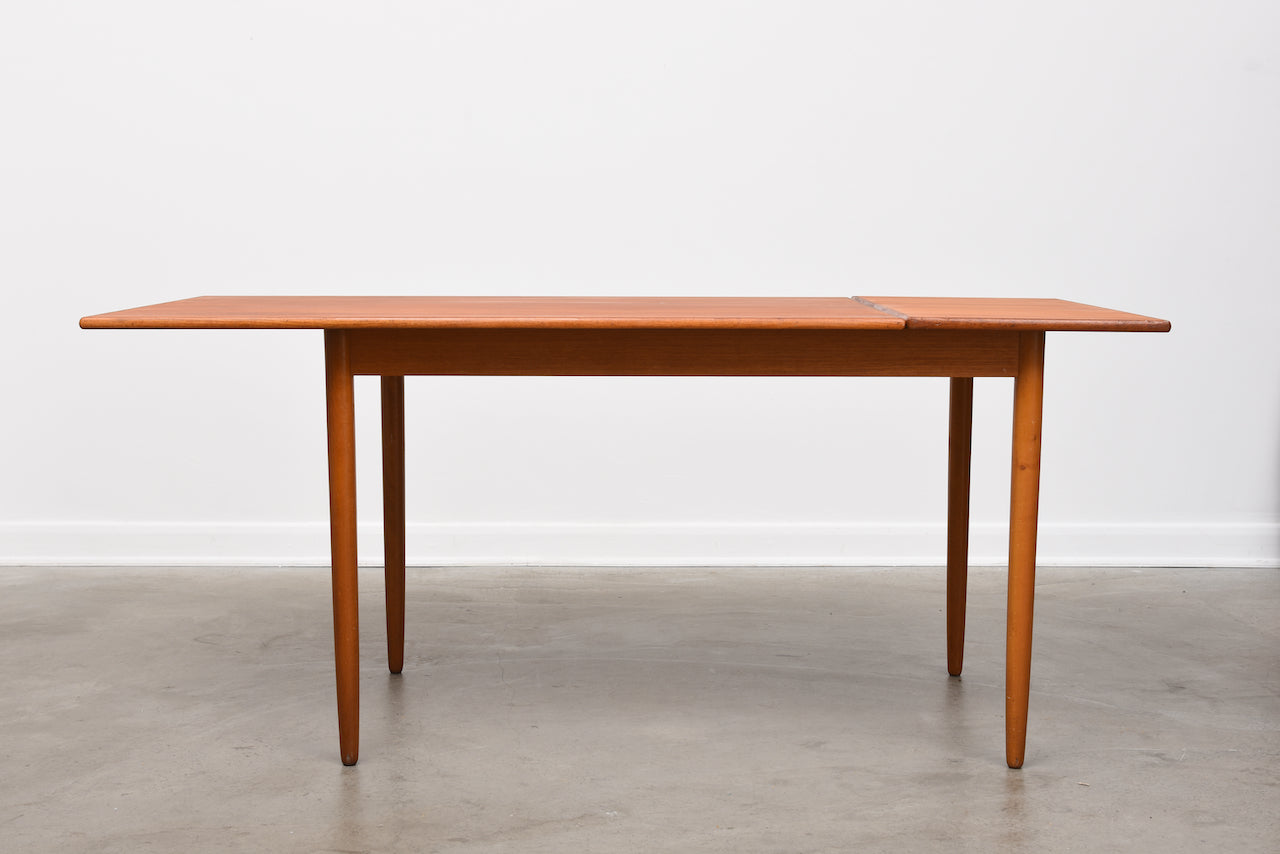 1960s Swedish drop-leaf dining table