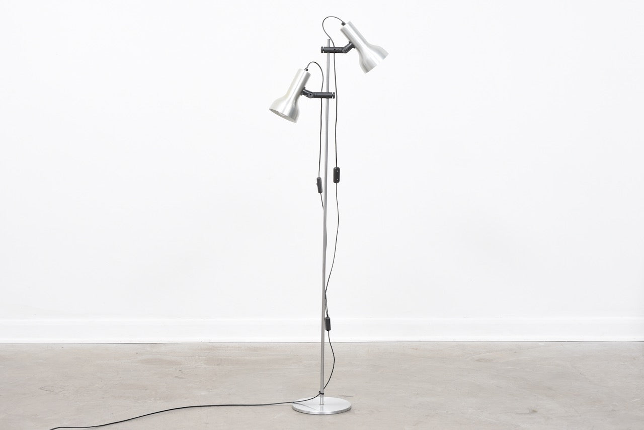 Vintage twin-headed floor lamp