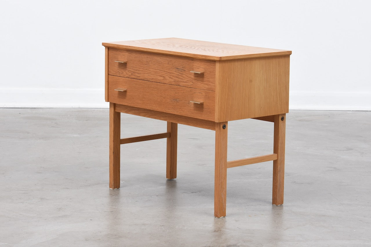 Low chest of two drawers by AB Carlstrom