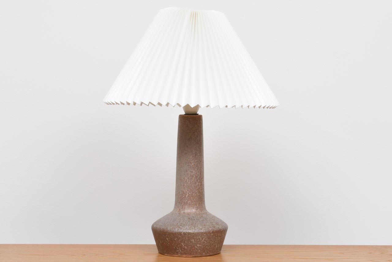 1960s stoneware table lamp with Le Klint shade