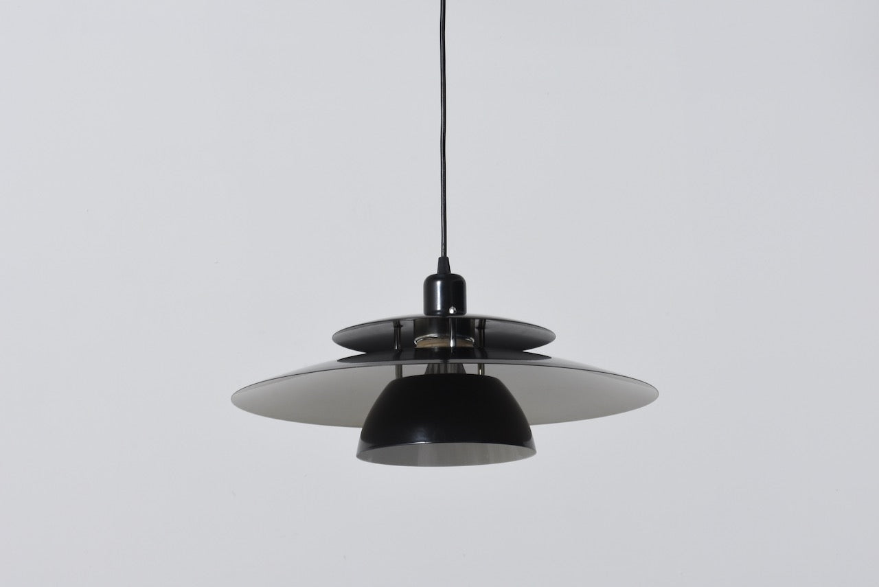 1980s multi-tiered Danish ceiling lamp