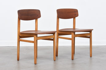Two available: 1970s teak + oak school chairs