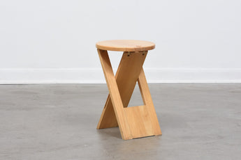 Folding stool by Roger Tallon