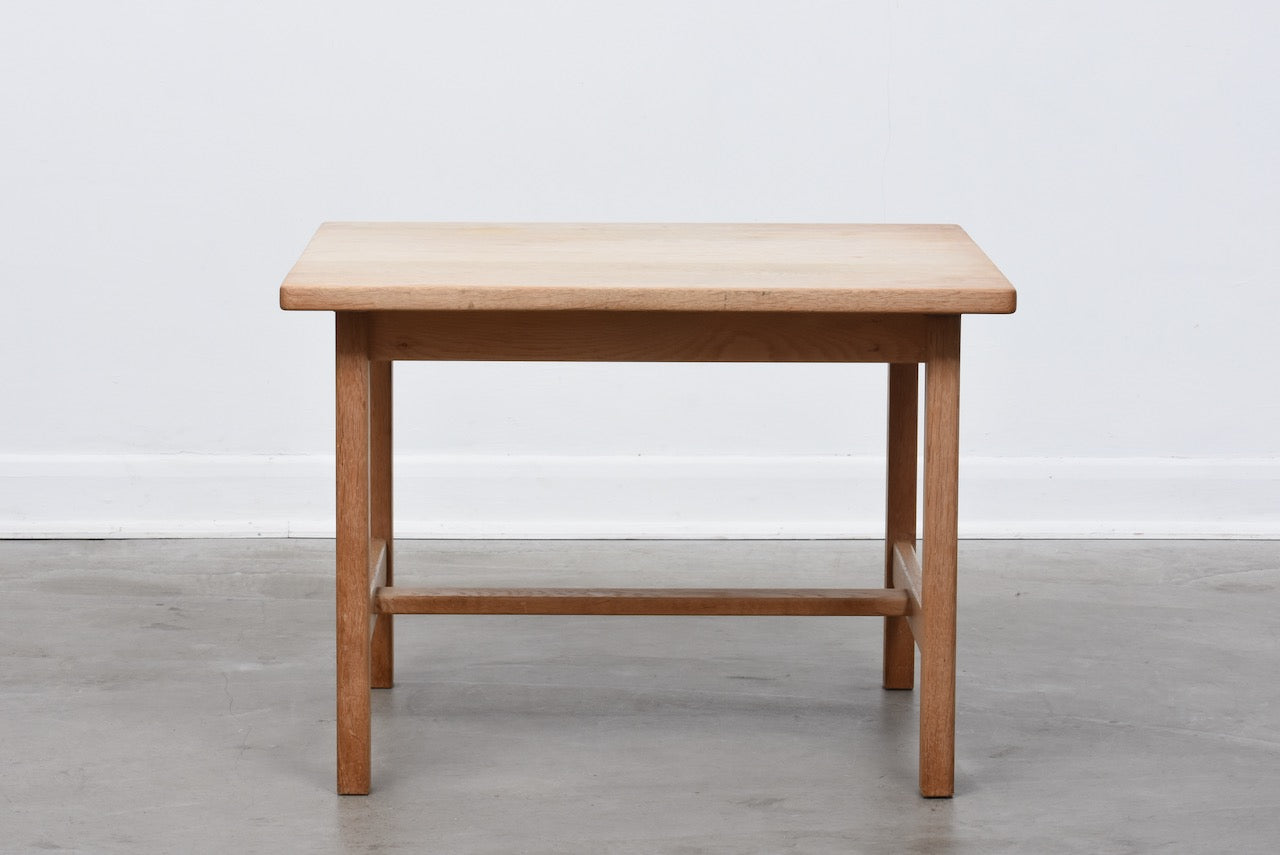 Square solid oak coffee table