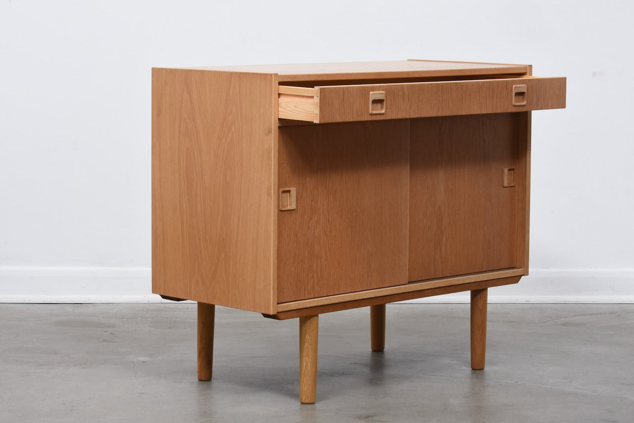 Two available: 1960s short oak sideboard