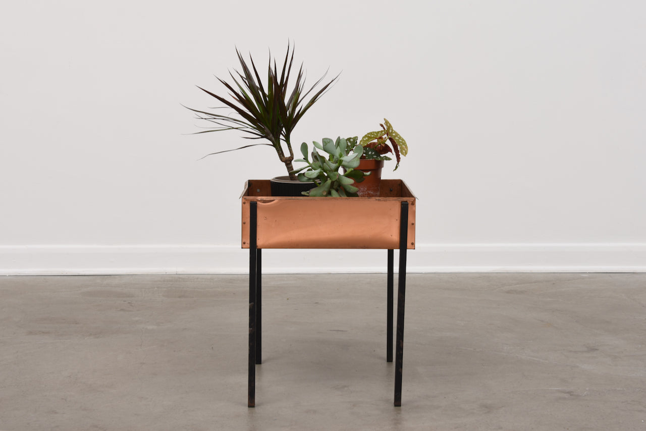 Copper planter by Hans-Agne Jakobsson