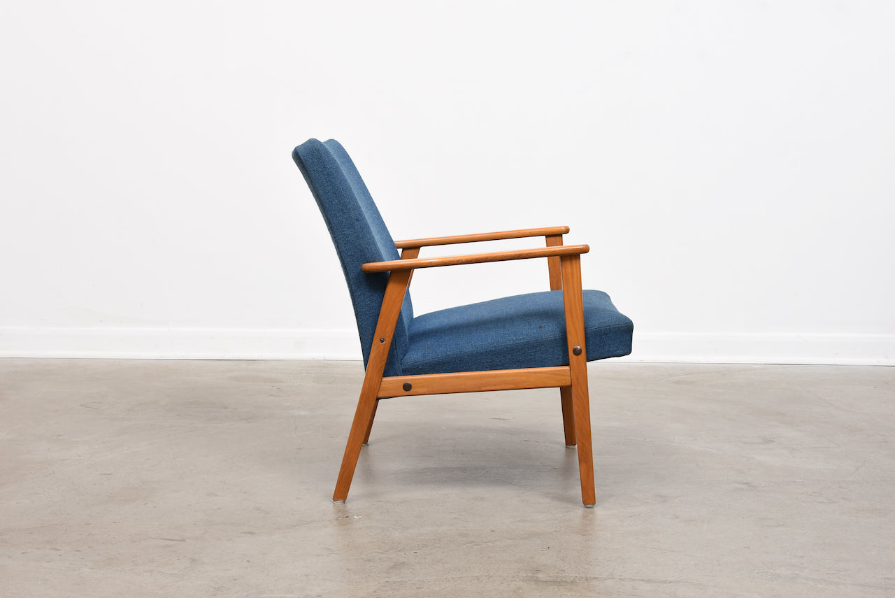 1960s Swedish lounger with beech frame
