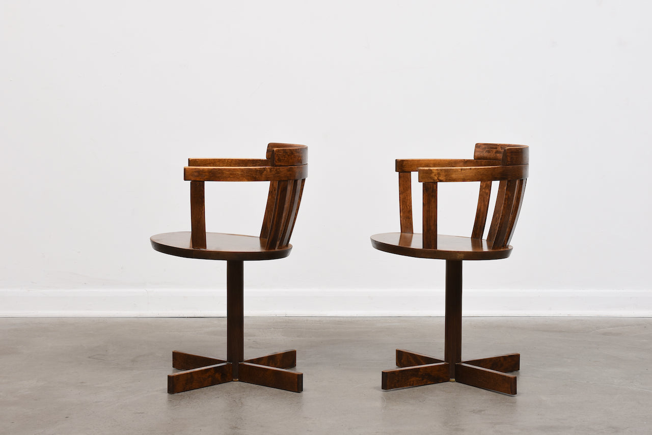 Two available: Swivel chairs by Edsbyverken