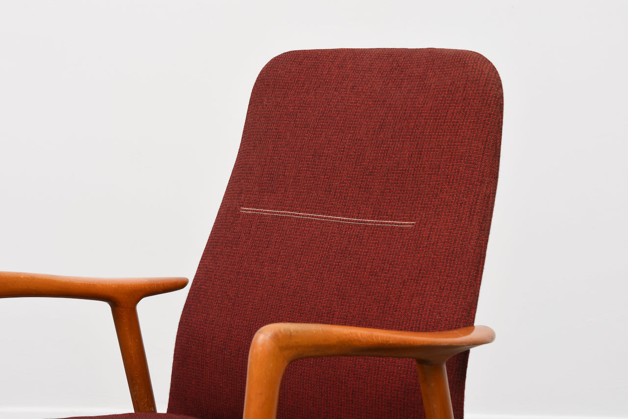 New upholstery included: 1950s lounger by Alf Svensson