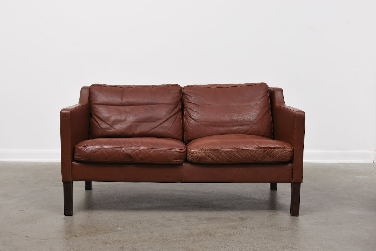 Vintage leather two seater