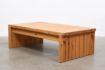 1970s pine coffee table by Yngve Ekström
