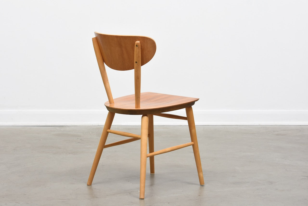 1950s Swedish birch and teak chair