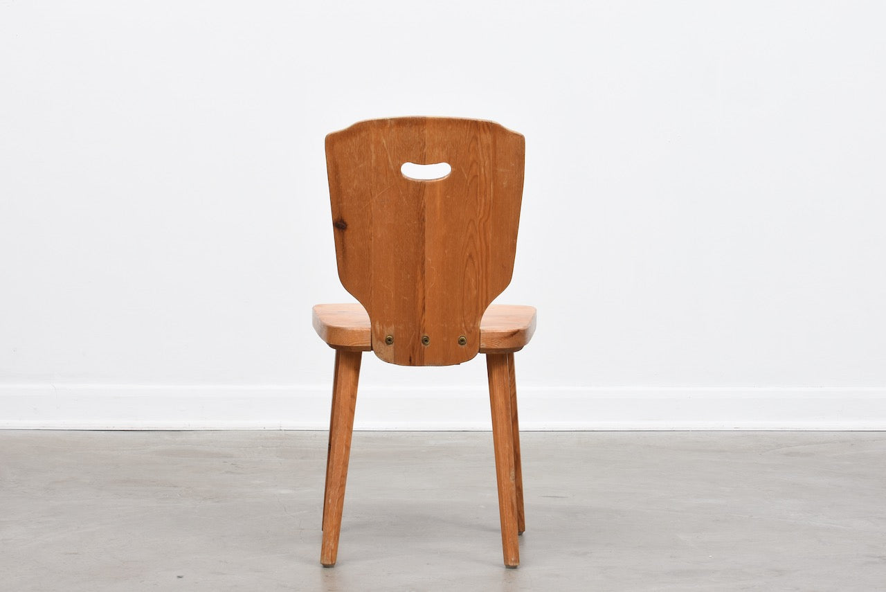 Set of four 1960s Swedish pine chairs