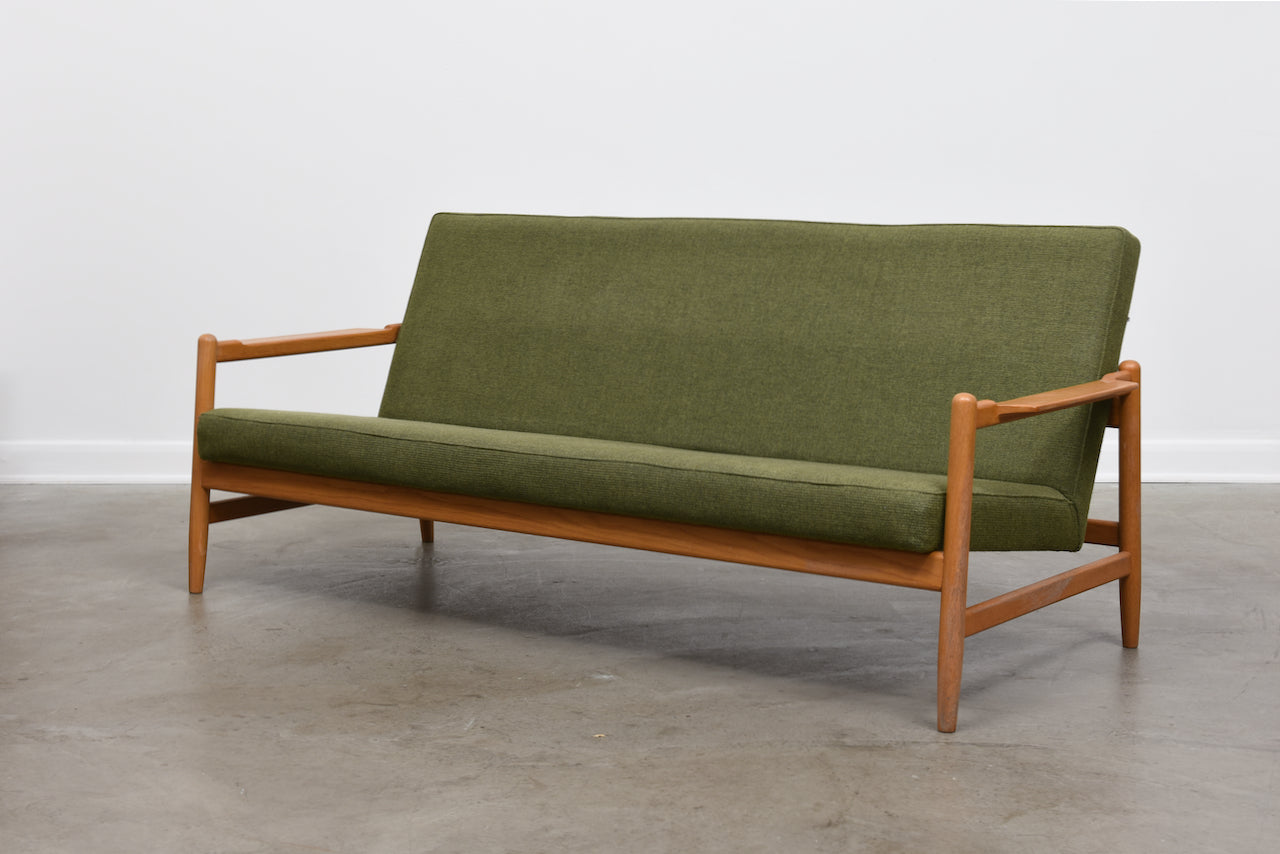 New upholstery included: Reclining sofa by Bengt Ruda
