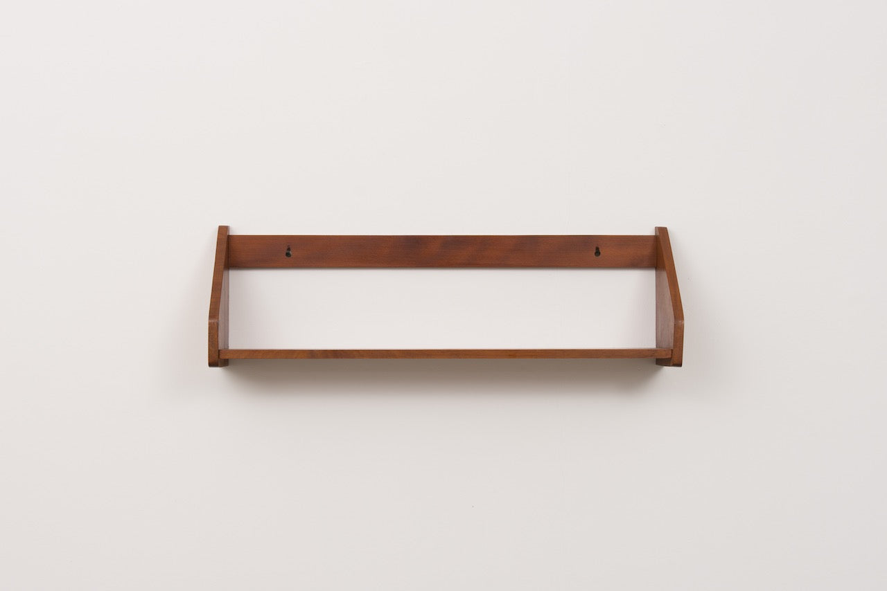 1960s floating shelf in beech