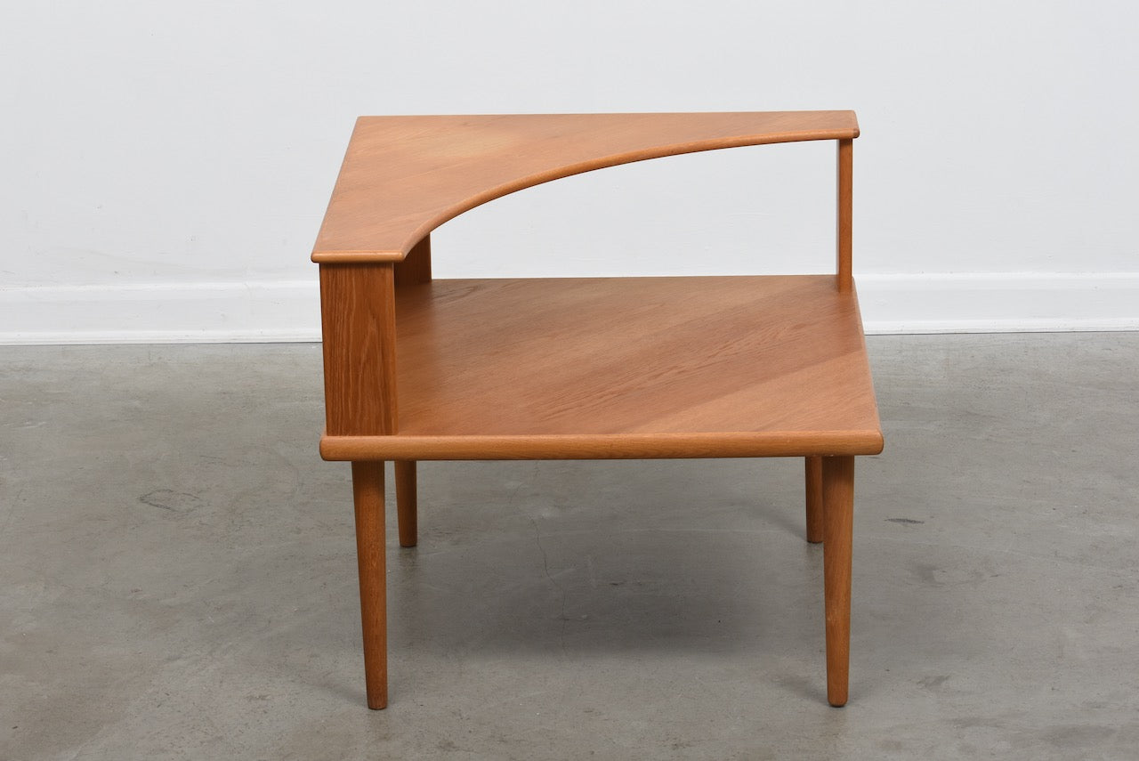 Oak corner table by Alf Svensson & Yngvar Sandström