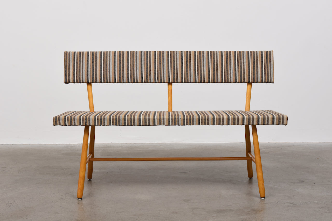 1950s Swedish birch bench