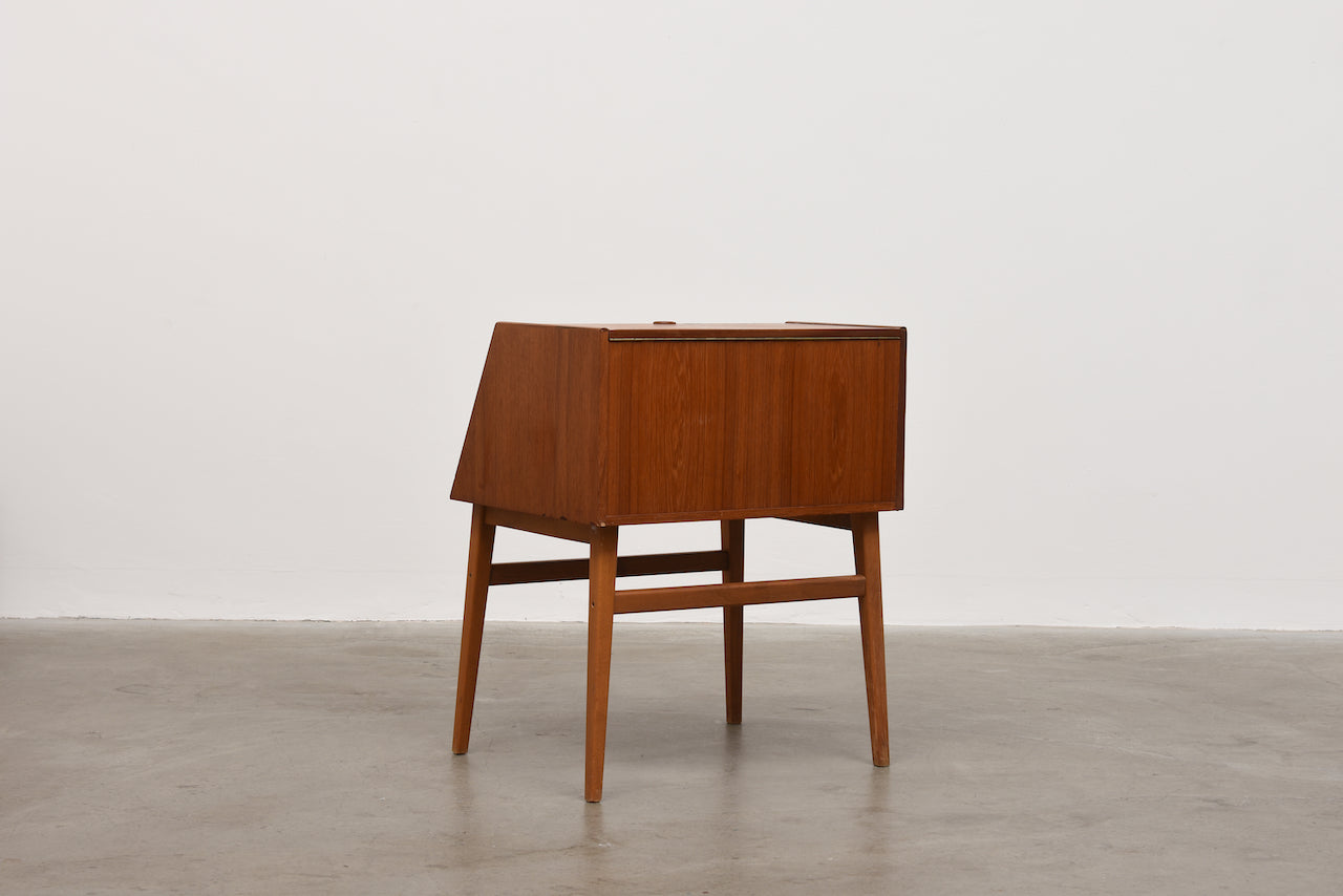 Low teak cabinet by Stig Bolaget