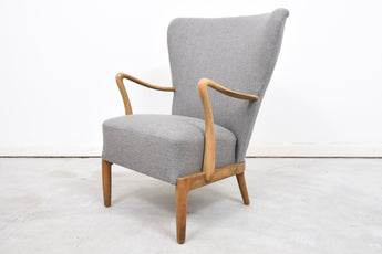 1940s wing back lounge chair by Fritz Hansen