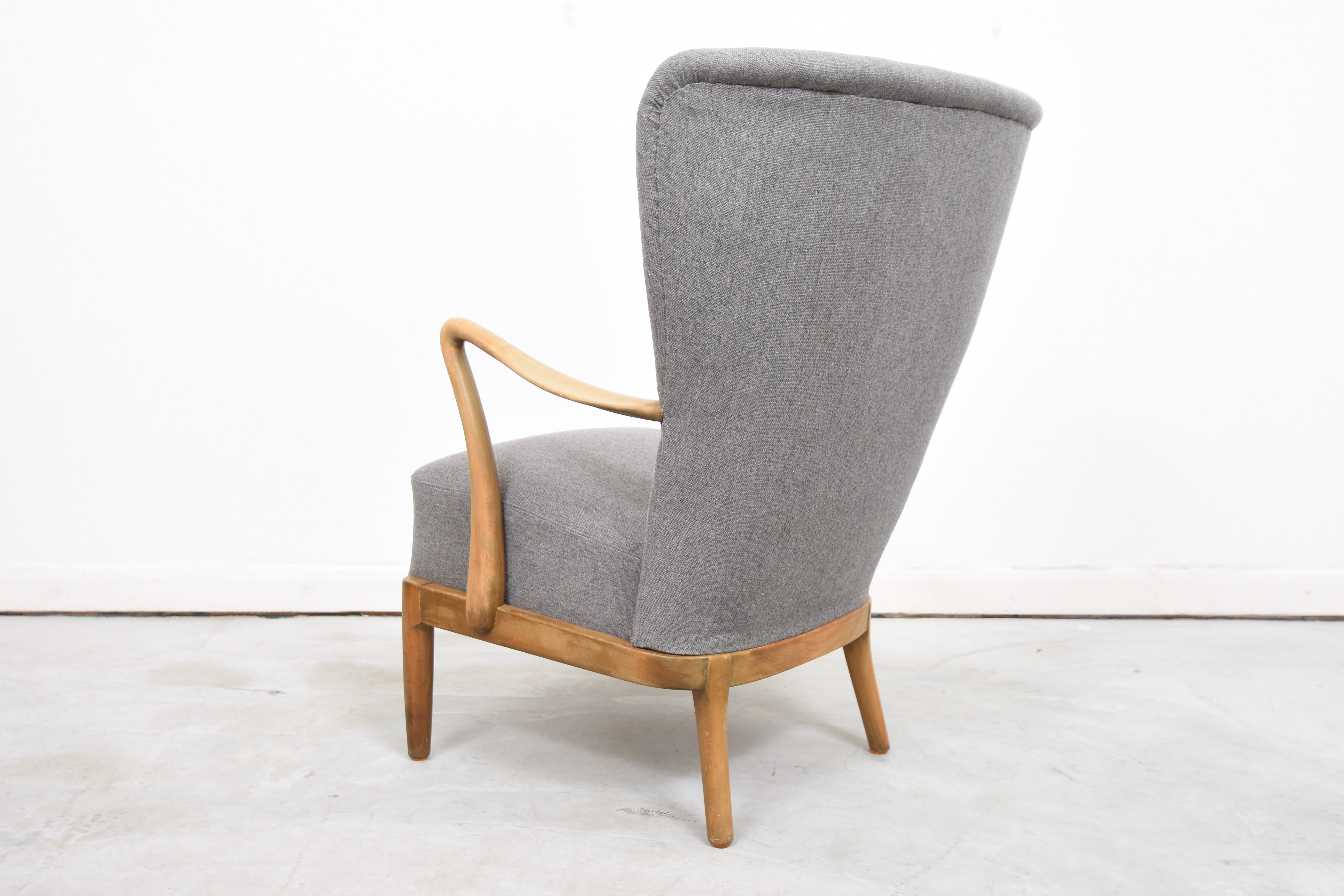 PrebenJan16 1940s wing back lounge chair by Fritz Hansen