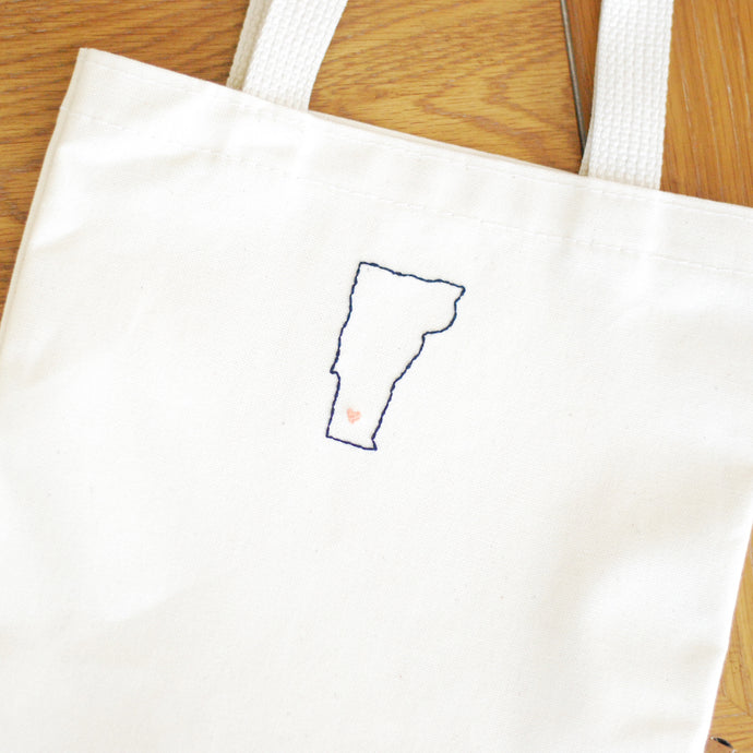 DIY: Embroidered Wedding Totes