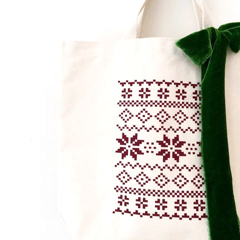 holiday sweater tote bags for holiday weddings