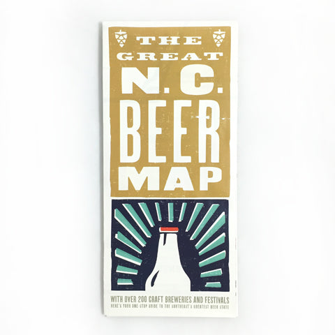 nc beer map for wedding welcome gifts north carolina