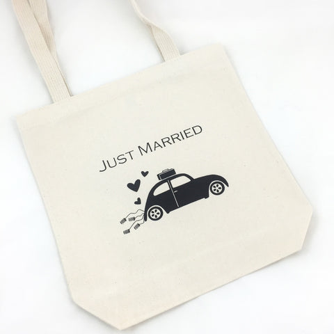 just married welcome totes